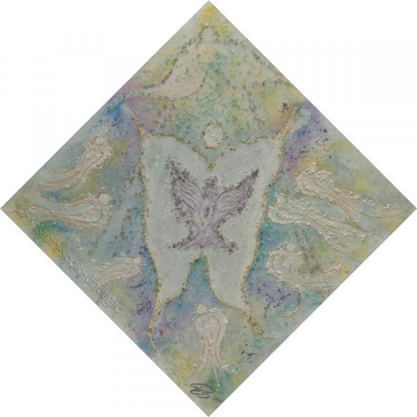 Seelentor - 70 x 70 cm - Original-Bild auf Leinwand-Keilrahmen