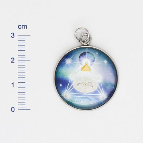 Edelstahl-Anhänger - 27x27 - MyEric-Sternenlicht-Pyramide