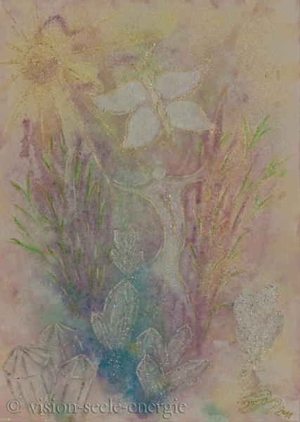 Garten der Seele - 50 x 70 cm - Original-Bild auf Leinwand-Keilrahmen