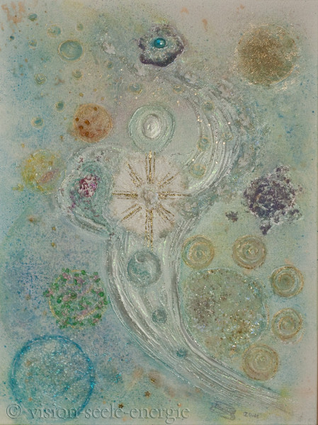 Seelenheilung - 60 x 80 cm - Original-Bild auf Leinwand-Keilrahmen
