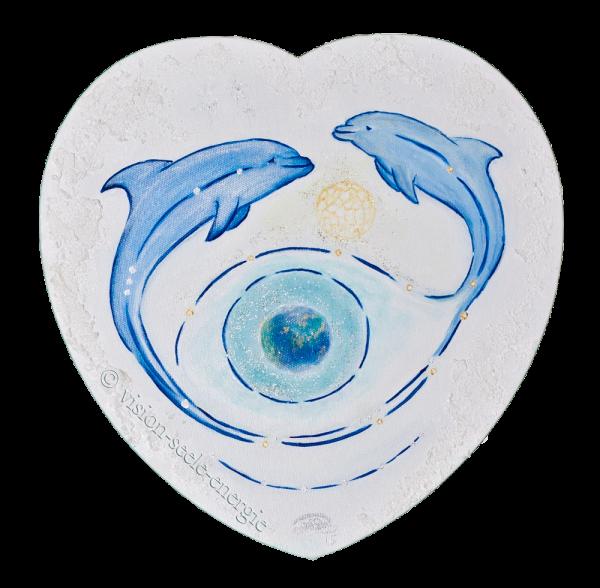 Herzens-Erkenntnis - 30 x 30 cm - Original-Bild auf Leinwand-Keilrahmen