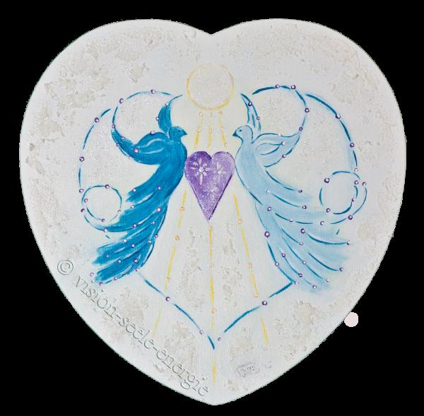 Herzens-Paradies - 30 x 30 cm - Original-Bild auf Leinwand-Keilrahmen