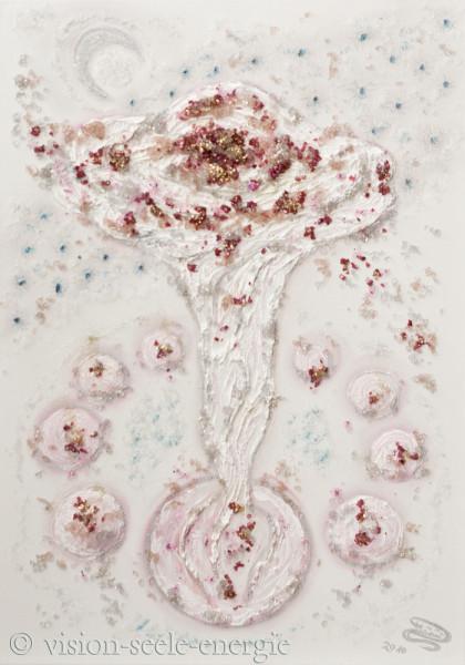 Blüte Atlantis - 50 x 70 cm - Original-Bild auf Leinwand-Keilrahmen