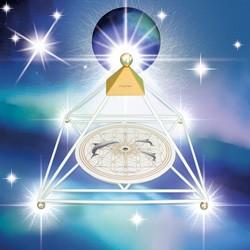 """""""MyEric-Sternenlicht-Pyramide""""- Variante in Weiß"""