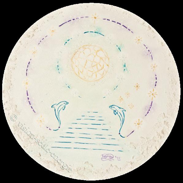 Verkauft - Sternentor - 30 x 30 cm - Original-Bild auf Leinwand-Keilrahmen