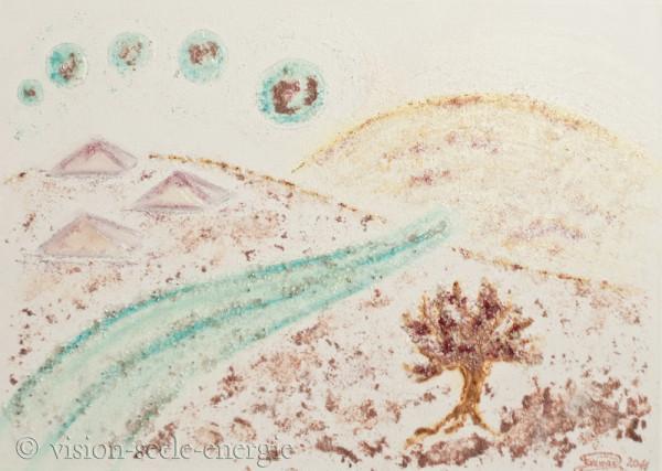 Transformieren - 70 x 50 cm - Original-Bild auf Leinwand-Keilrahmen