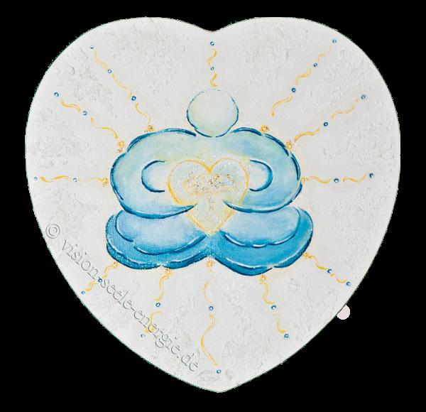 Herzens-Fülle - 30 x 30 cm - Original-Bild auf Leinwand-Keilrahmen