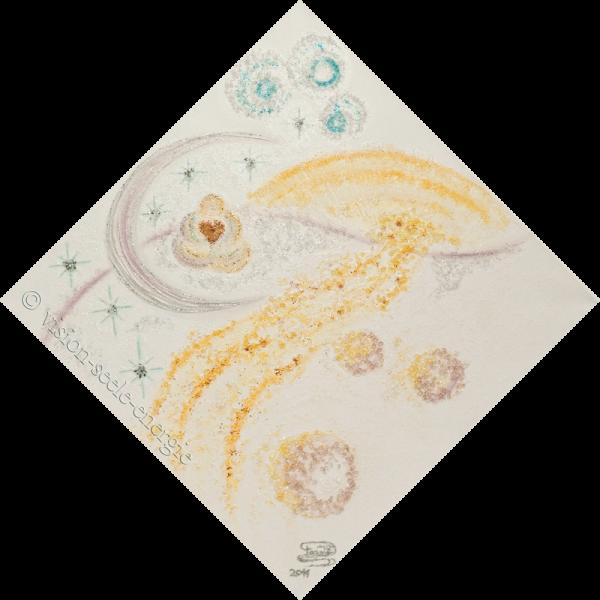 Träumen - 60 x 60 cm - Original-Bild auf Leinwand-Keilrahmen