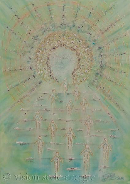 Öffnung des Sternentors - 50 x 70 cm - Original-Bild auf Leinwand-Keilrahmen