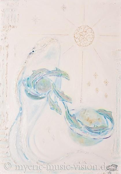 Kosmisches Bewusstsein - 50 x 70 cm - Original-Bild auf Leinwand-Keilrahmen
