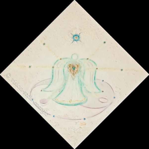 Engel des Einklangs - 70 x 70 cm - Original-Bild auf Leinwand-Keilrahmen