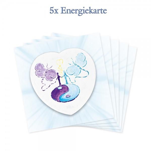 5er-Pack - Energiekarten - Vision der Harmonie