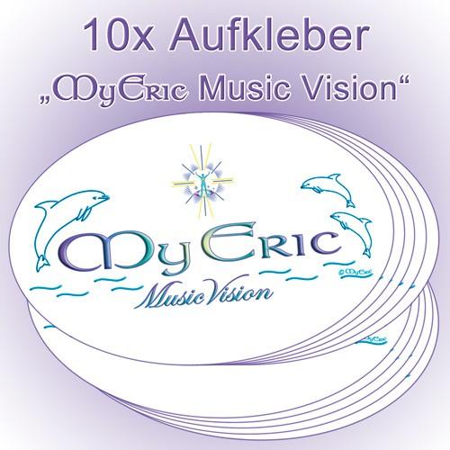 """10 Stück Aufkleber mit dem energetischen Logo """"MyEric-Music-Vision"""""""
