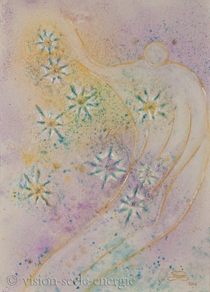 Kosmos der Seele - 50 x 70 cm - Original-Bild auf Leinwand-Keilrahmen