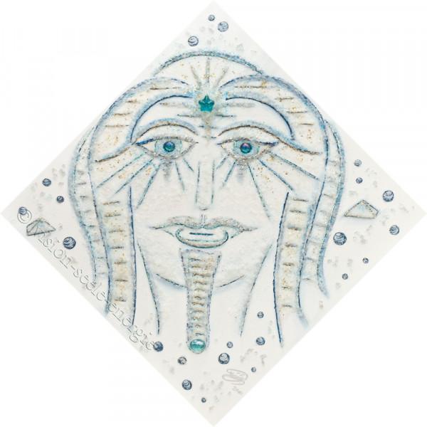 Botschaft Atlantis - 60 x 60 cm - Original-Bild auf Leinwand-Keilrahmen