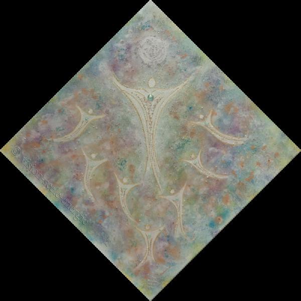 Seelengeschwister - 70 x 70 cm - Original-Bild auf Leinwand-Keilrahmen