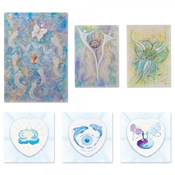 Energiekarten-Set zum Jubiläum der Mal-Kunst - Vision-Seele-Energie