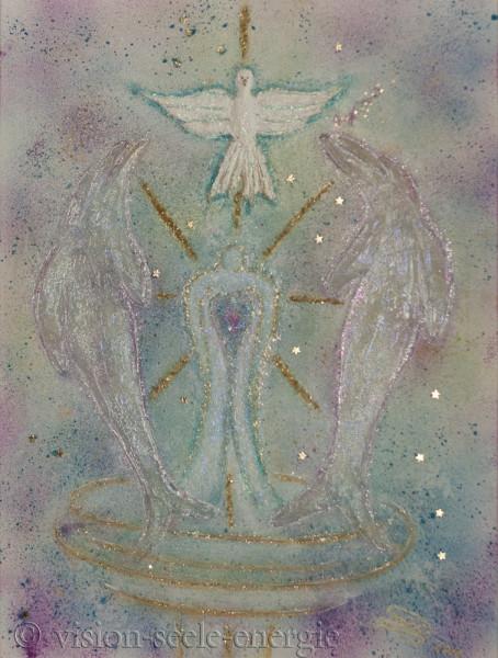Seelenreichtum - 60 x 80 cm - Original-Bild auf Leinwand-Keilrahmen