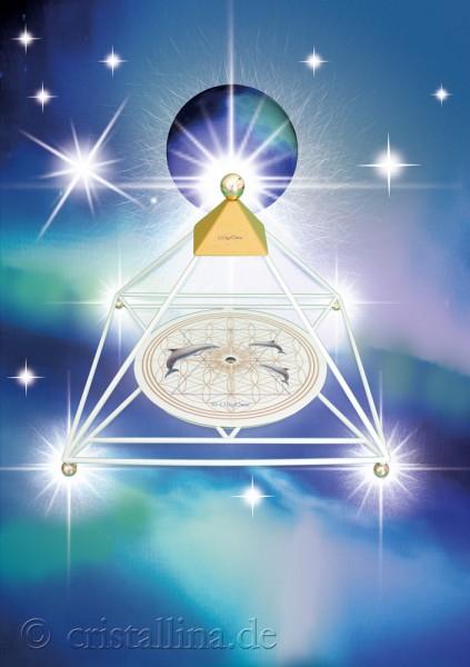 """Vorderseite der Energiekarte """"MyEric-Sternenlicht-Pyramide"""" aus dem MyEric-Design"""